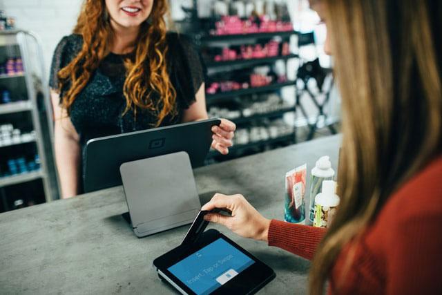 Credit Card Transaction at Salon