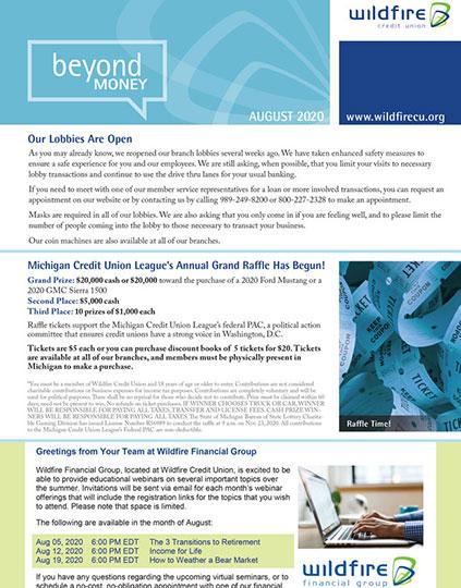 August 2020 Newsletter Thumbnail