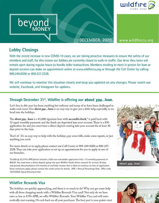 Graphic of December newsletter