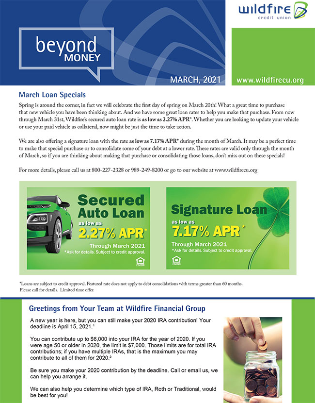 March Newsletter Thumbnail
