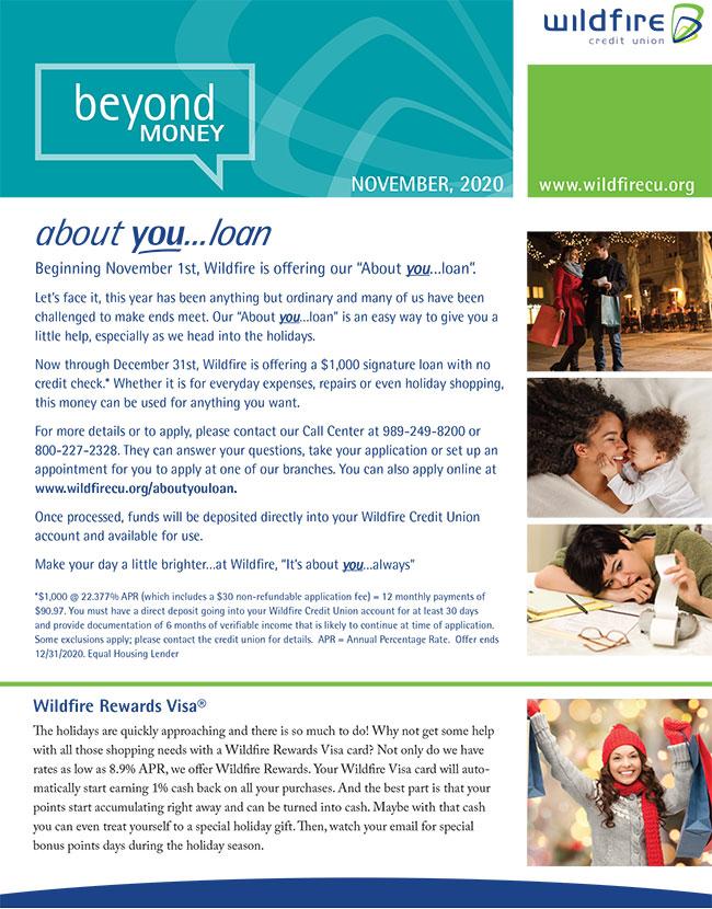 Graphic of November newsletter