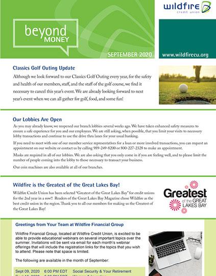 September 2020 Newsletter Thumbnail