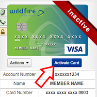 Credit Card being activated online