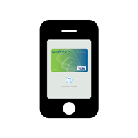 Image of a phone with the Wildfire Visa added to wallet