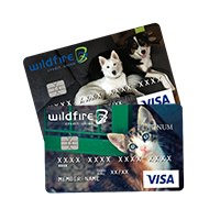 Two sample personalized cards of pets