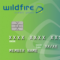 Picture of a Wildfire Visa with an EMV Chip